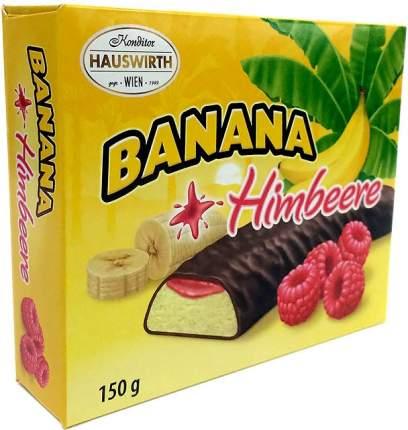 Суфле Hauswirth Банановое шокобананы с малиновым джемом в темном шоколаде 150г