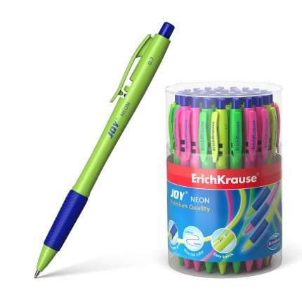 Ручка шариковая автоматическая ErichKrause® JOY® Neon Ultra Glide Technology синий