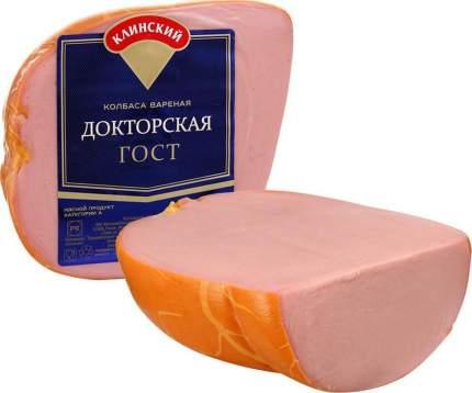 Колбаса Клинский мясокомбинат Докторская вареная в натуральной оболочке ~450 г