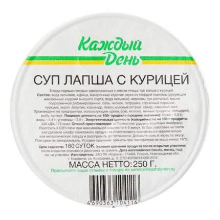 Суп-лапша Каждый день с курицей замороженный 250 г