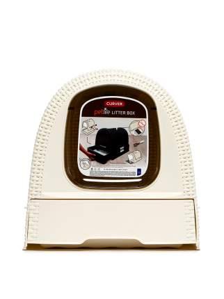 Туалет для кошек Curver PetLife, прямоугольный, бежевый, 51х39х40 см