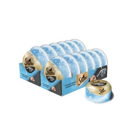 Влажный корм для кошек Sheba Classic сочный тунец в нежном соусе, 12 шт по 80г