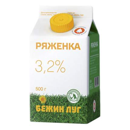 Ряженка Бежин луг 3,2% 500 г