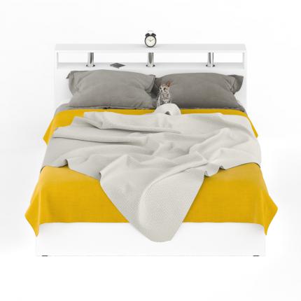 Кровать Камелия 1600+Осн белый, 164х204х88 см