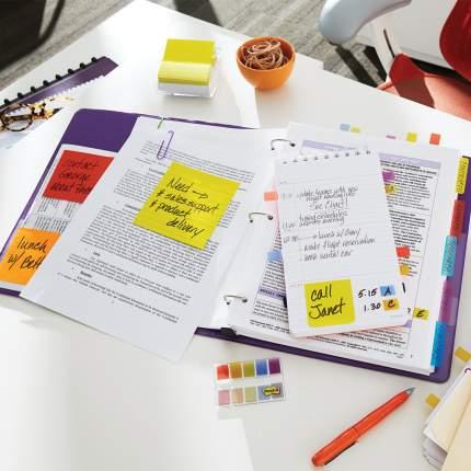 Закладки клейкие Post-It Professional пластиковые, 25 мм, 3 цвета х 22 шт.