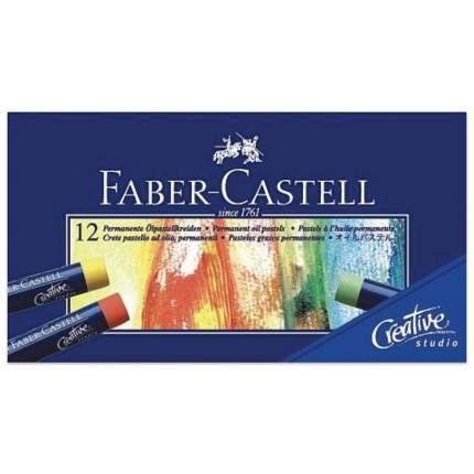 Пастель масляная художественная Faber-Castell Oil Pastels, 12 цветов, круглое сечение