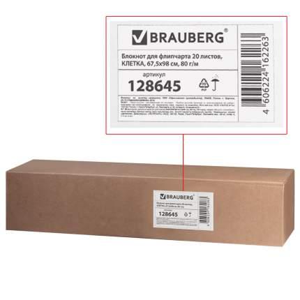 Блокнот для флипчарта Brauberg 20 листов, клетка, 67,5х98 см