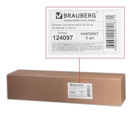 Блокноты для флипчарта Brauberg 20 листов, клетка, 67,5х98 см, 5 шт.