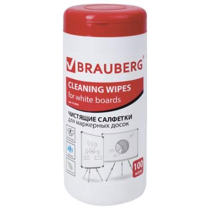 Чистящие салфетки для маркерных досок Brauberg влажные, 100 шт.