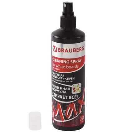 Чистящая жидкость-спрей для маркерных досок Brauberg Turbo Max Усиленная формула, 250 мл