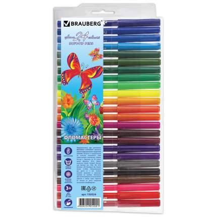 Фломастеры Brauberg Wonderful butterfly, 24 цвета