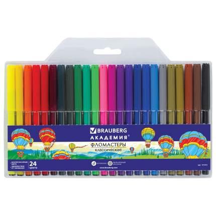 Фломастеры Brauberg Академия, 24 цвета