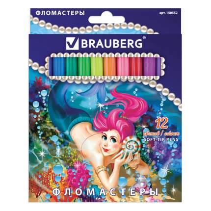 Фломастеры Brauberg Морские легенды, 12 цветов