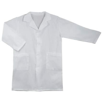 Халат школьный для уроков химии Топ-Спин VXT-2-2 белый, рост 158-164