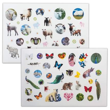 Альбом наклеек Hatber А4 В мире животных, 12 листов, 400 наклеек