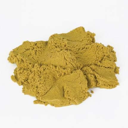 Песок для лепки кинетический Юнландия желтый, 500 г, 2 формочки, ведерко