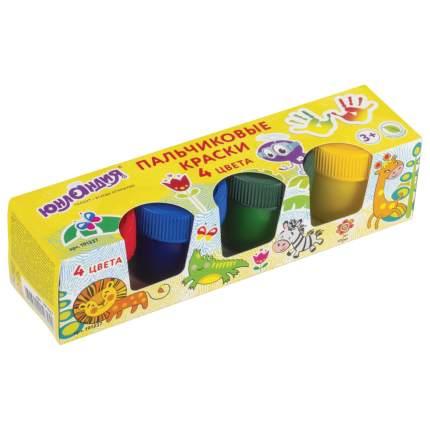 Краски пальчиковые Юнландия Сафари, 4 цвета по 35 мл