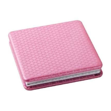 Зеркало Dewal, карманное квадратное «Палитра», светло-розовое