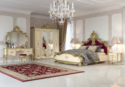 Зеркало Мэри-Мебель Шейх СШ-06 слоновая кость/золото, 136х11х127 см