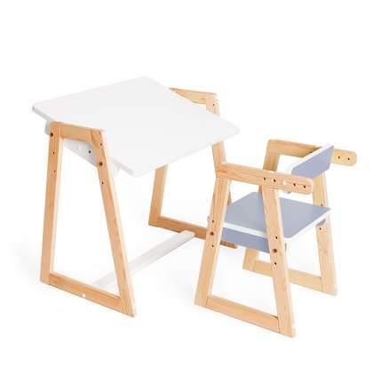Детская растущая парта и стул Я САМ Краски, цвет Джинс