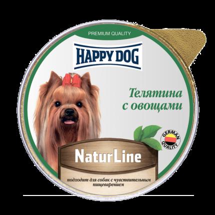 Влажный корм для собак Happy Dog Natur Line, телятина, овощи, 10шт, 125г