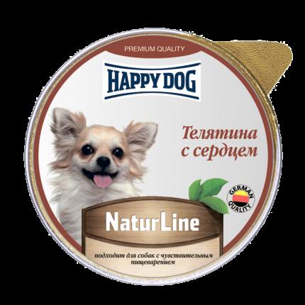 Влажный корм для собак Happy Dog Natur Line, телятина, сердце, 10шт, 125г