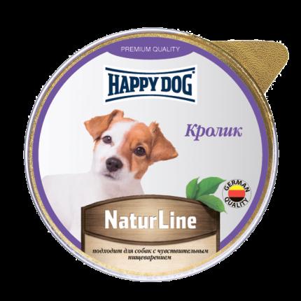 Влажный корм для собак Happy Dog Natur Line, кролик, 10шт, 125г