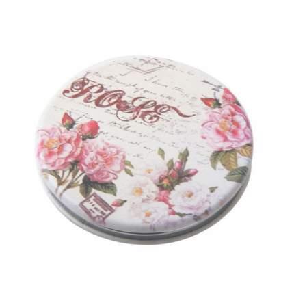Зеркало Dewal карманное круглое «Классическая мода», розы