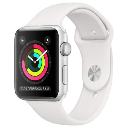 Смарт-часы Apple Watch Series 3 38mm Silver with White Sport Band (MTEY2RU/A)