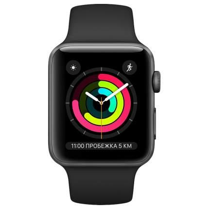 Смарт-часы Apple Watch Series 3 38mm Space Grey with Black Sport Band (MTF02RU/A)