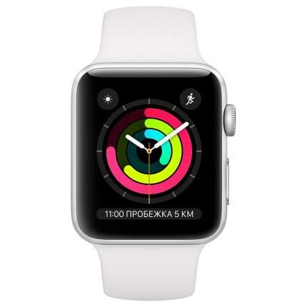 Смарт-часы Apple Watch Series 3 42mm Silver with White Sport Band (MTF22RU/A)