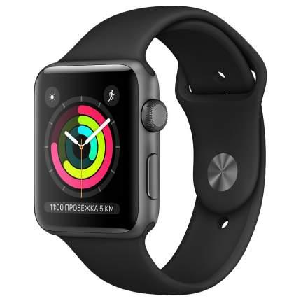 Смарт-часы Apple Watch Series 3 42mm Space Grey with Black Sport Band (MTF32RU/A)