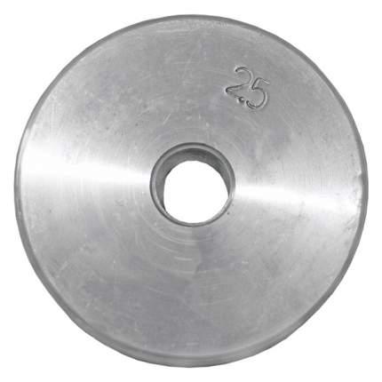 Диск для штанги и гантелей оцинкованный 2.5 кг 26 мм.СпортКом