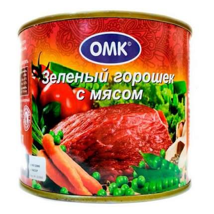 Зеленый горошек ОМК с мясом 525 г