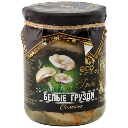Грузди белые Ecofood резаные соленые 520 г