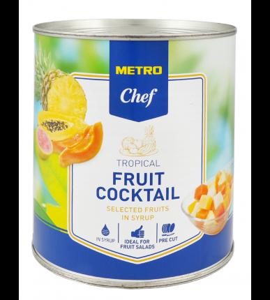 Коктейль из тропических фруктов Metro Chef кусочки в сиропе 825 г
