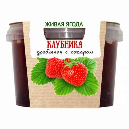 Клубника Егорьевские традиции дробленая с сахаром 300 г