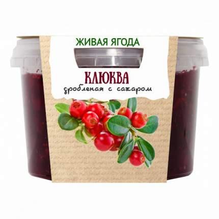 Клюква Егорьевские традиции дробленая с сахаром 300 г