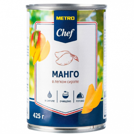 Манго Metro Chef кусочки в легком сиропе 425 г