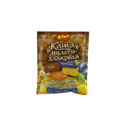 Каша ОГО! мультизлаковая семена подсолнечника-абрикос-чернослив-орехи 50 г