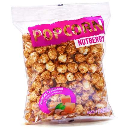 Попкорн Nutberry карамель с миндалем 160 г