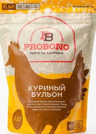 Бульон Probono куриный, костный, замороженный, 500 г