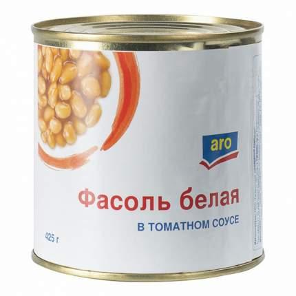 Фасоль Aro белая в томатном соусе 425 г
