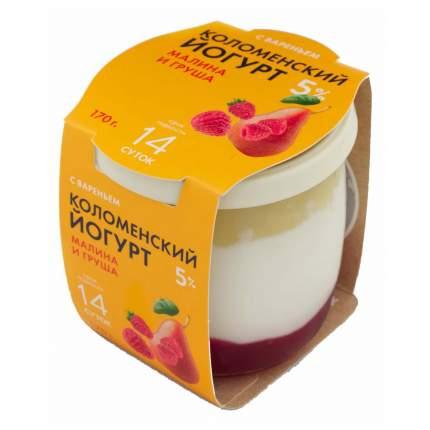 Йогурт Коломенское молоко малина-груша 5% 170 г