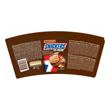 Мороженое сливочное Snickers с арахисом в глазури и карамелью 340 г