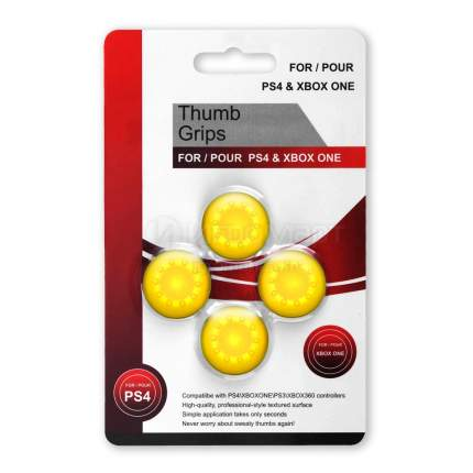 Насадки на джойстики Thumb Grips Желтые (PS5,PS4,PS3,Xbox Series S/X,Xbox One,Xbox 360)