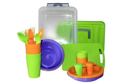Набор посуды для пикника Weekend на 4 персоны СЛЕДОПЫТ PF-CWS-PS01