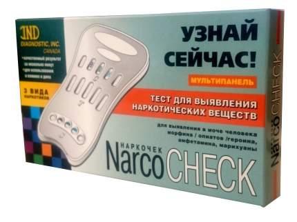 Тест Narcocheck мультипанель для выявления 3 видов наркотиков в моче 1 шт.
