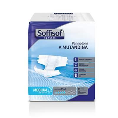 Подгузники для взрослых Soffisof Стандарт Плюс M 15 шт. ночные