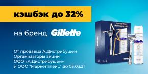 Повышенный кэшбэк на Gillette